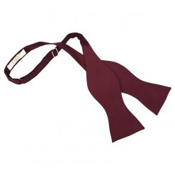 Burgundy Solid Check Self-Tie Bow Tie