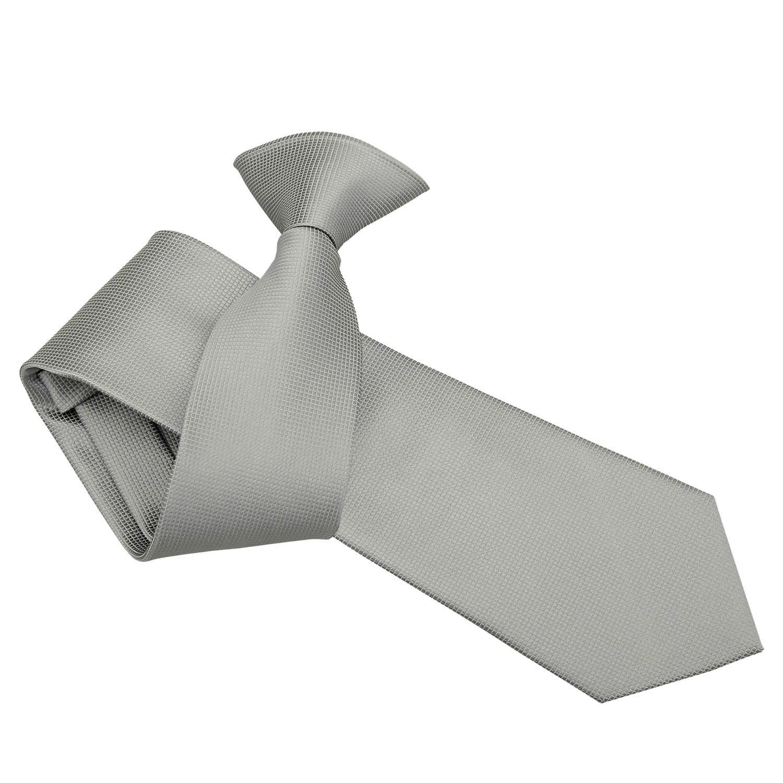 0f6c2fbc91b1 Silver Solid Check Clip On Tie