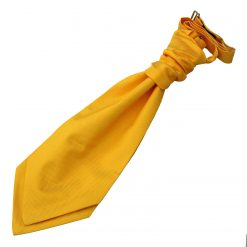 Sunflower Gold Solid Check Pre-Tied Wedding Cravat for Boys