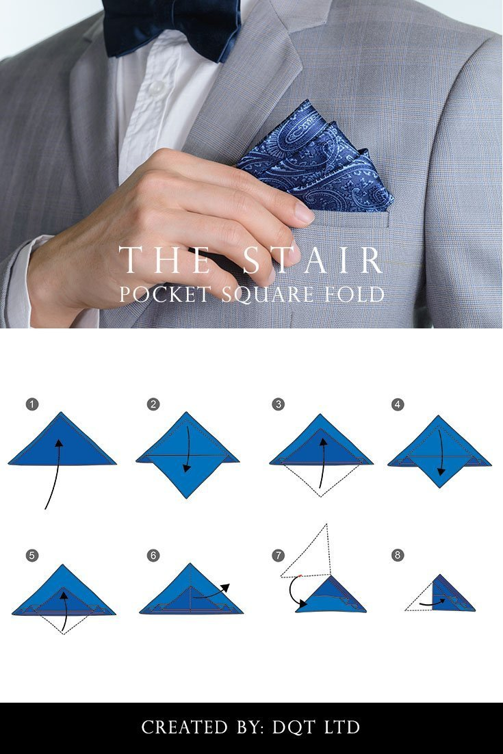 How To Fold a Stair Pocket Square (9 of 11) by DQT