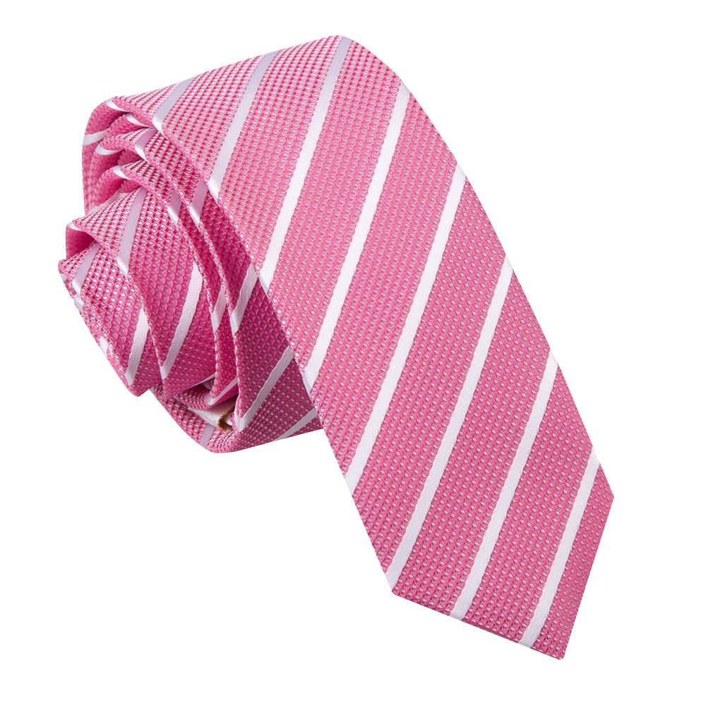 s single stripe pink white tie