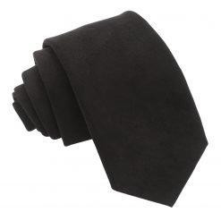 Black Suede Slim Tie