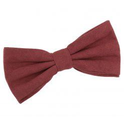 Brown Suede Pre-Tied Bow Tie