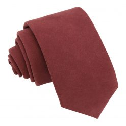 Brown Suede Slim Tie