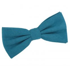 Cerulean Blue Suede Pre-Tied Bow Tie