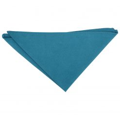 Cerulean Blue Suede Pocket Square