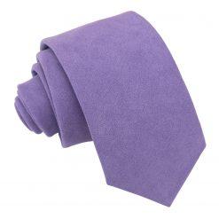 Dusty Lavender Suede Slim Tie