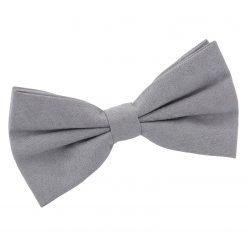 Grey Suede Pre-Tied Bow Tie