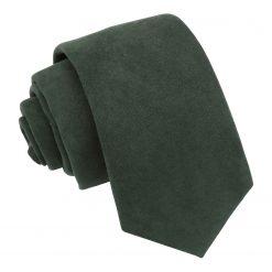 Hunter Green Suede Slim Tie