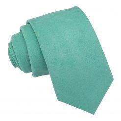 Neo Mint Suede Slim Tie