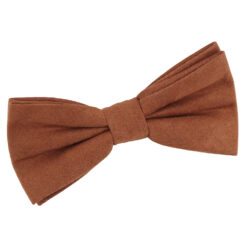 Toffee Brown Suede Pre-Tied Bow Tie