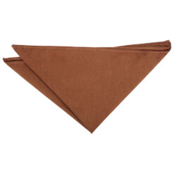 Toffee Brown Suede Pocket Square