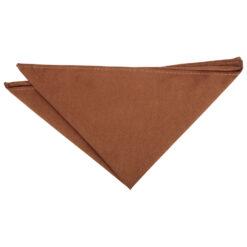 Toffee Brown Suede Pocket Square