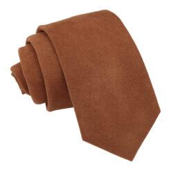 Toffee Brown Suede Slim Tie