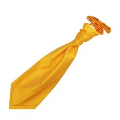 Sunflower Gold Solid Check Pre-Tied Wedding Cravat