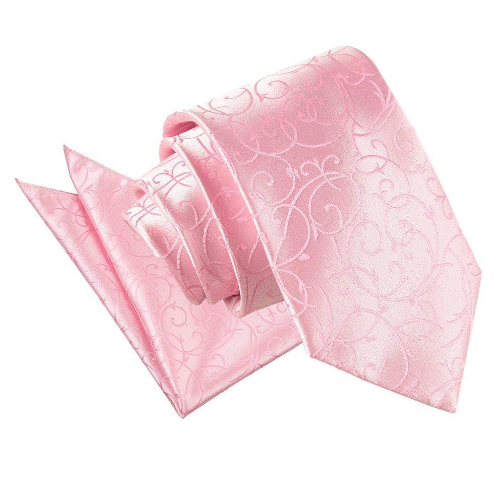 Men S Swirl Baby Pink Tie 2 Pc Set