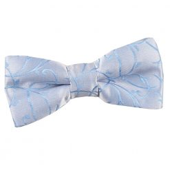 Baby Blue Swirl Pre-Tied Bow Tie for Boys