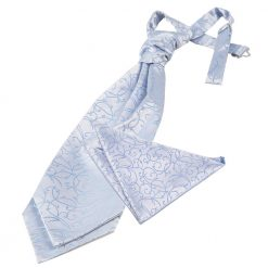 Baby Blue Swirl Wedding Cravat & Pocket Square Set