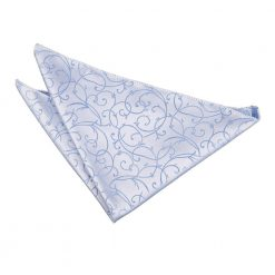 Baby Blue Swirl Handkerchief / Pocket Square