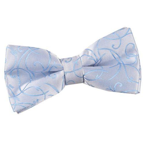 Baby Blue Swirl Pre-Tied Bow Tie