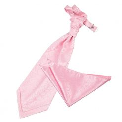 Baby Pink Swirl Wedding Cravat & Pocket Square Set