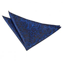 Black & Blue Swirl Pocket Square