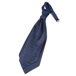 Black & Blue Swirl Pre-Tied Wedding Cravat