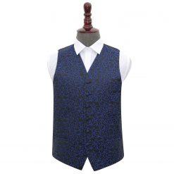 Black & Blue Swirl Wedding Waistcoat