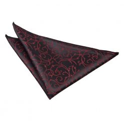 Black & Burgundy Swirl Pocket Square