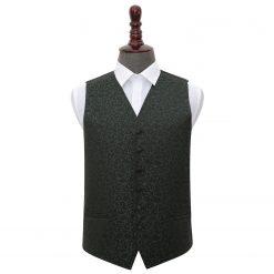 Black & Green Swirl Wedding Waistcoat