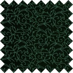 Black & Green Swirl Swatch