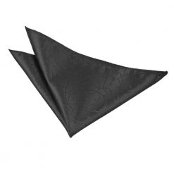 Black Swirl Pre-Tied Wedding Cravat