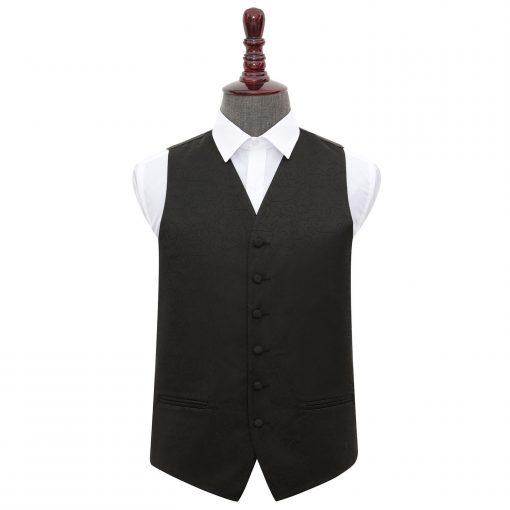 Black Swirl Wedding Waistcoat