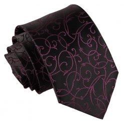 Black & Purple Swirl Classic Tie