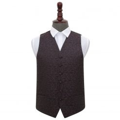 Black & Purple Swirl Wedding Waistcoat