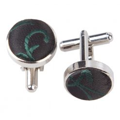 Black & Burgundy Swirl Cufflinks