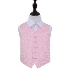 Baby Pink Swirl Wedding Waistcoat for Boys