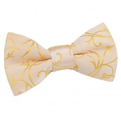 Black Swirl Pre-Tied Bow Tie for Boys