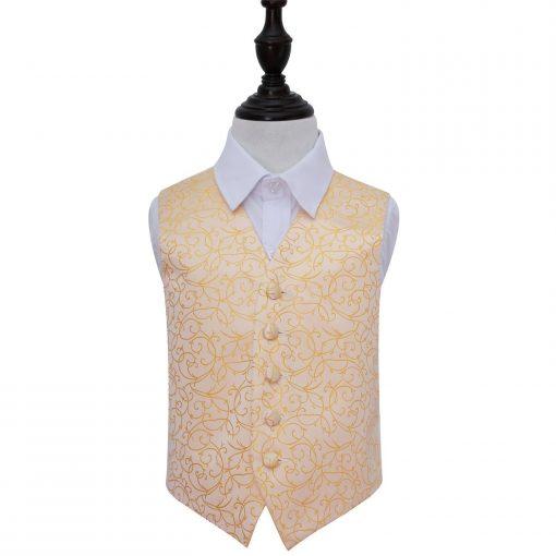 Gold Swirl Wedding Waistcoat for Boys