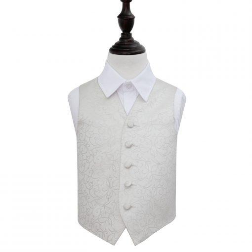 Ivory Swirl Wedding Waistcoat for Boys
