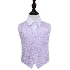 Lilac Swirl Wedding Waistcoat for Boys