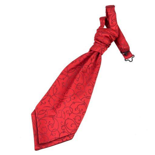 Burgundy Swirl Pre-Tied Wedding Cravat for Boys