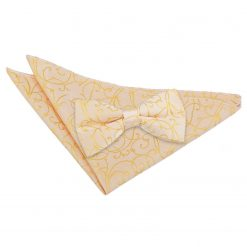 Gold Swirl Bow Tie & Pocket Square Set