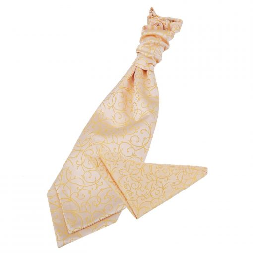 Gold Swirl Wedding Cravat & Pocket Square Set
