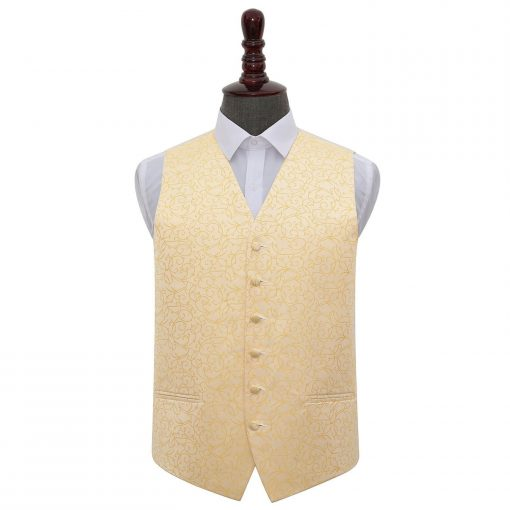Gold Swirl Wedding Waistcoat