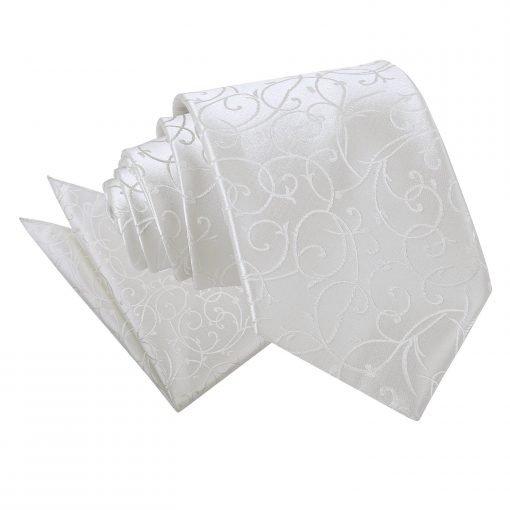 Ivory Swirl Tie & Pocket Square Set
