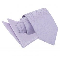 Lilac Swirl Tie & Pocket Square Set
