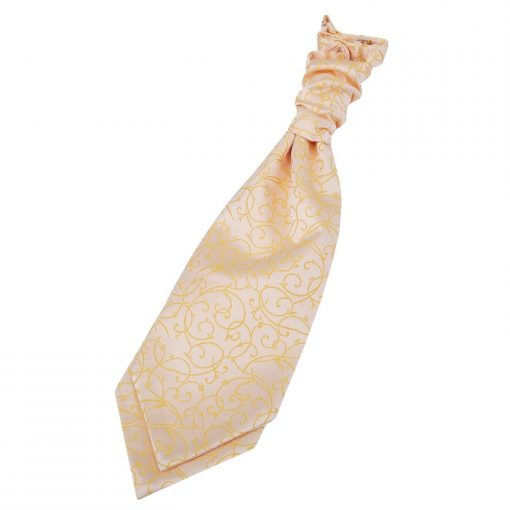 Gold Swirl Pre-Tied Wedding Cravat