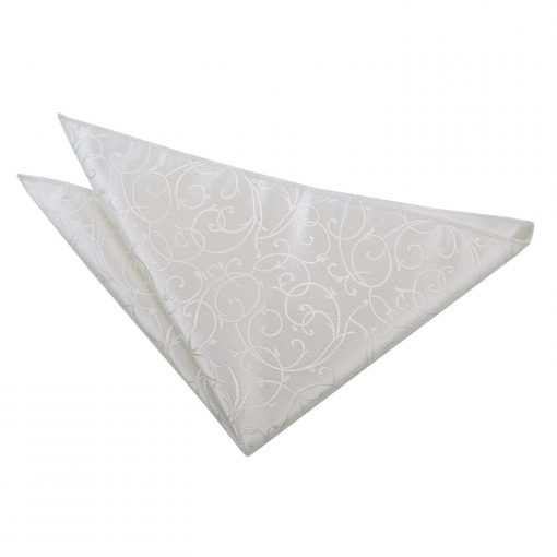 Silver Swirl Handkerchief / Pocket Square