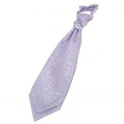 Lilac Swirl Pre-Tied Wedding Cravat